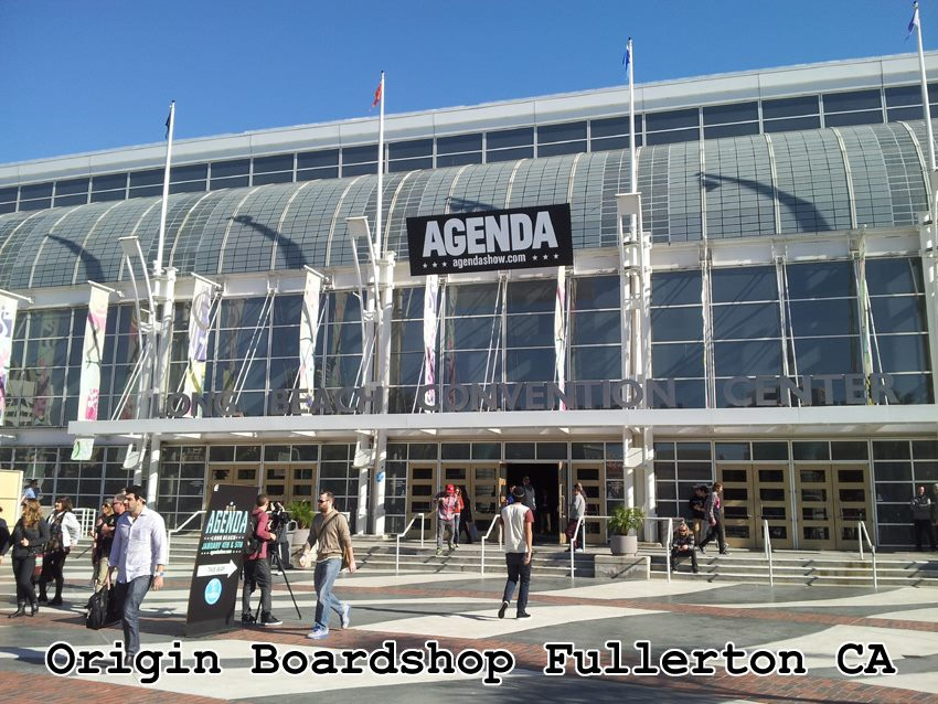 Origin Boardshop at Agenda Show Long Beach CA January 2013