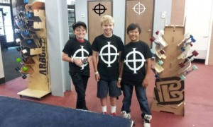 11 year old Miles, Adam, & Ethan dropped by the shop today to say hi... looking good in Official Origin Tees!!