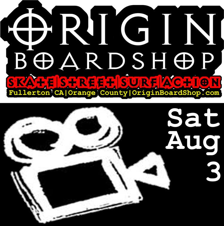 Origin Boardshop Preliminary Filming