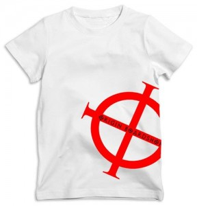 Origin Boardshop Tshirt Tee - White with Red Slant Origin Logo