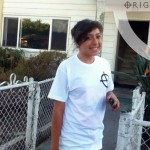 Mary from Nicholas Jr. High. in Fullerton. 7th Grade. Looking cute in our Origin White Classic Tee...
