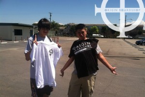 Origin shirts are too cool for school! Here's Rene and Angel from Buena Park Highschool.... via Christopher Flores...
