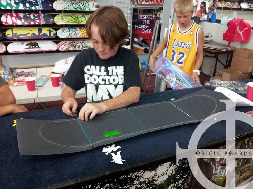 kids in shop