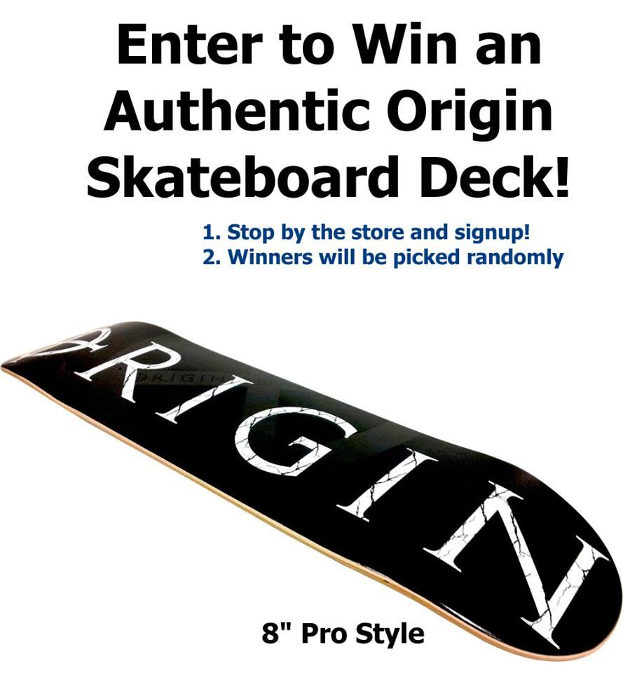 skateboard raffle