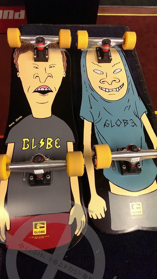 Beavis and butthead Globe skateboards back