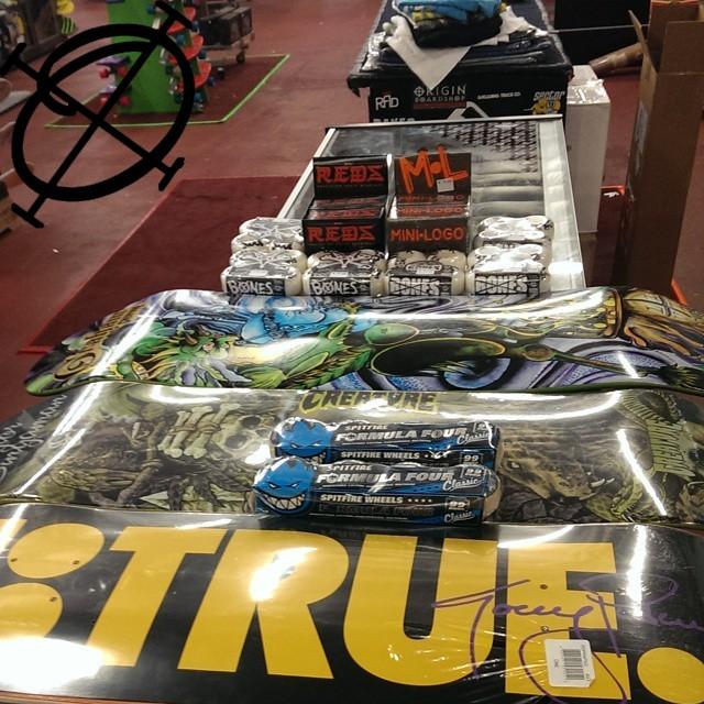 new stocks of skateboard decks, bearings and wheels