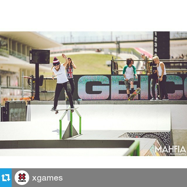 Girl action!! 49 days to go! #Repost @xgames・・・ ( via @mahfia_tv/@thealliancesk8)For action #onwheels checkout #xgames this June 2015. For your skateboarding needs, Visit #Originboardshop - #OrangeCounty CA - #Fullerton