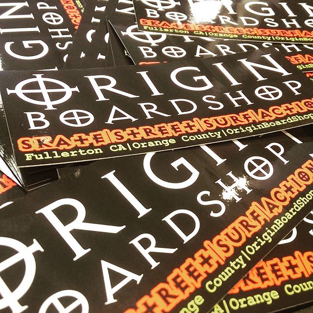 Origin Boardshop Stickers