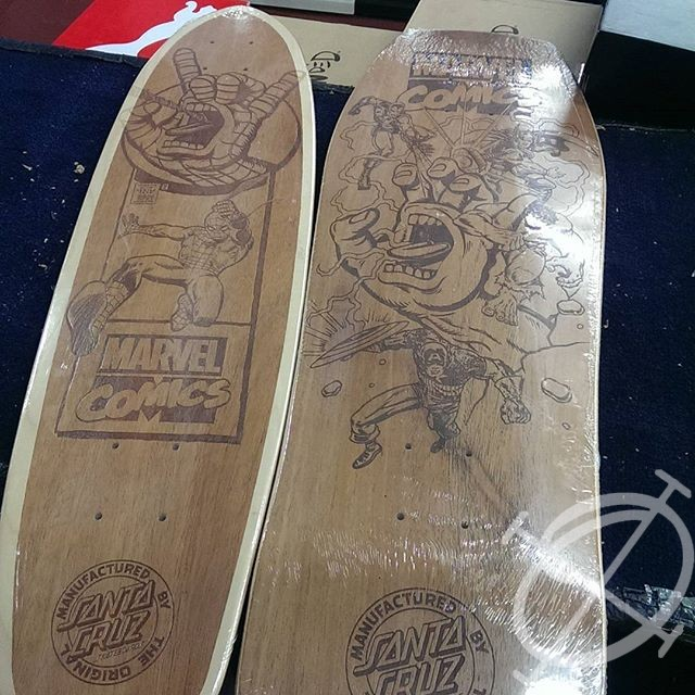 santa cruz etched boards
